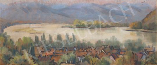 Lukács Ágnes - Dunakanyar, 1987 festménye