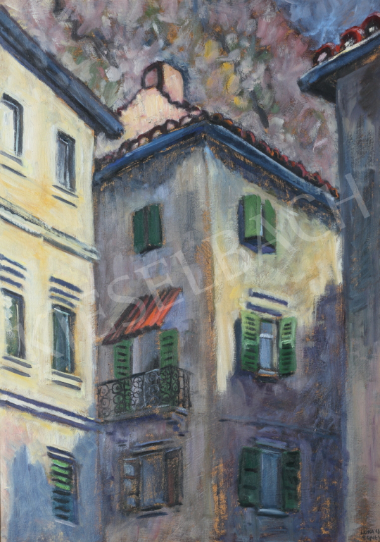 For sale Lukács, Ágnes - Houses in Kotor, 1988 's painting