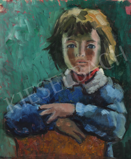 For sale Lukács, Ágnes - Girl with Red Scarf, 1979 's painting