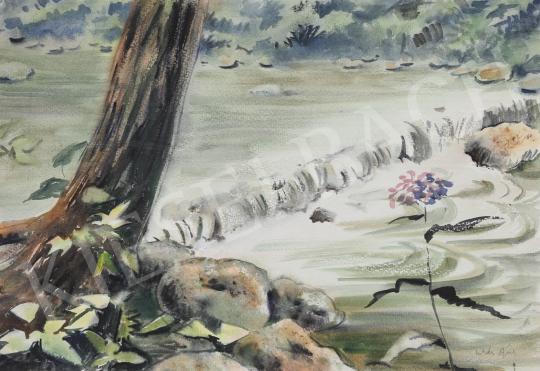 Eladó Lukács Ágnes - Hegyi patak, 1987 festménye