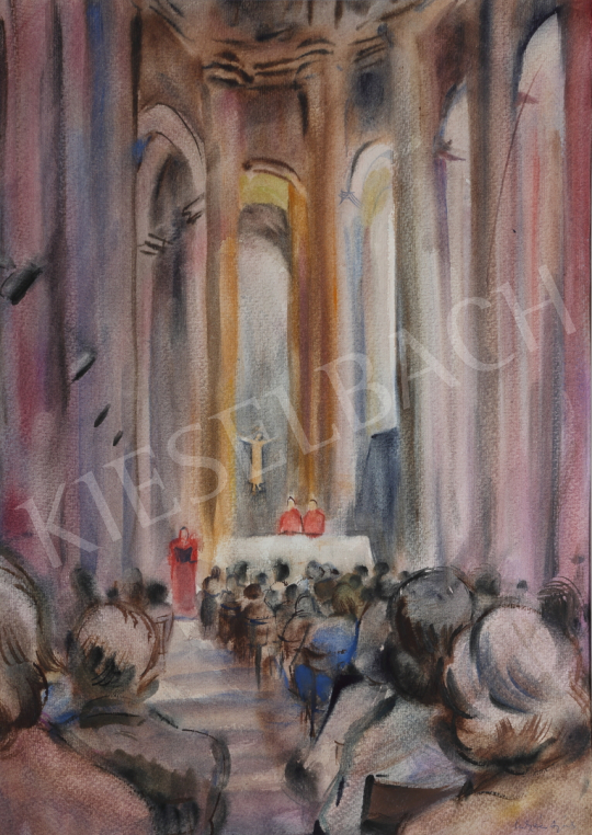 For sale Lukács, Ágnes - Mass in Toulouse, 1985 's painting