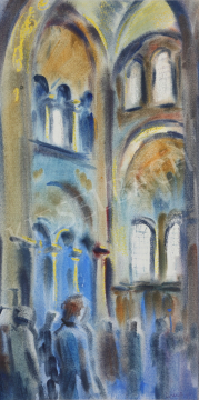 Lukács, Ágnes - A Church in Ravenna, 1983 painting