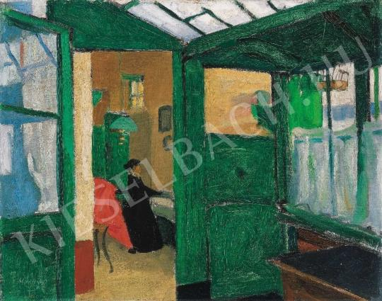 Márffy Ödön - Zöld szoba, 1906 körül festménye