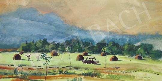 Lukács Ágnes - Kaszáló, 1978 festménye