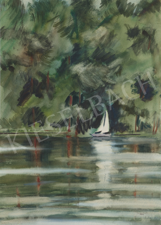 For sale Lukács, Ágnes - At the Lake Mazúr, 1979 's painting