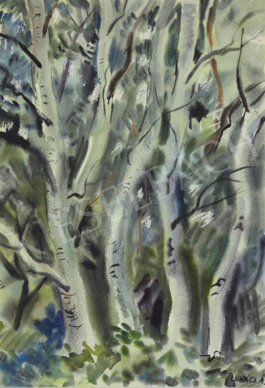 Eladó Lukács Ágnes - Nyárfák, 1982 festménye