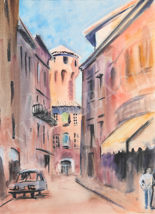 For sale Lukács, Ágnes - Street in Albi, 1985 's painting