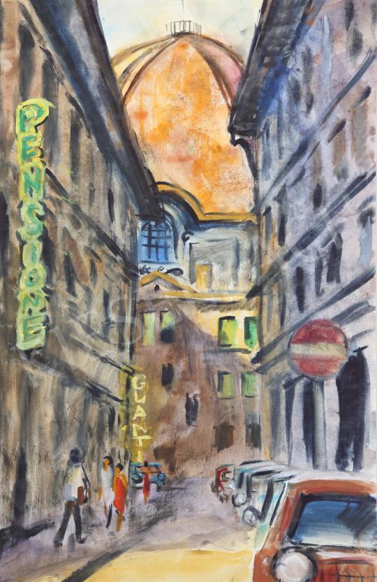 Eladó Lukács Ágnes - Firenzei emlék, 1982 festménye