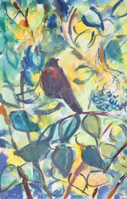 Lukács, Ágnes - Thrush in the Elderbush, 1974