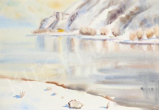 Eladó Lukács Ágnes - Téli Duna, 1981 festménye