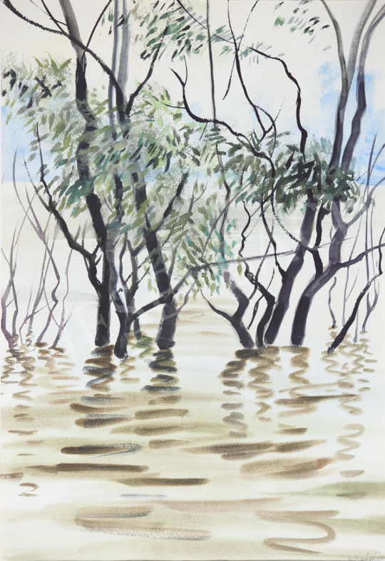For sale Lukács, Ágnes - Danube Floodplain, 1985 's painting
