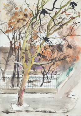 Lukács, Ágnes - Trees in January, 1986