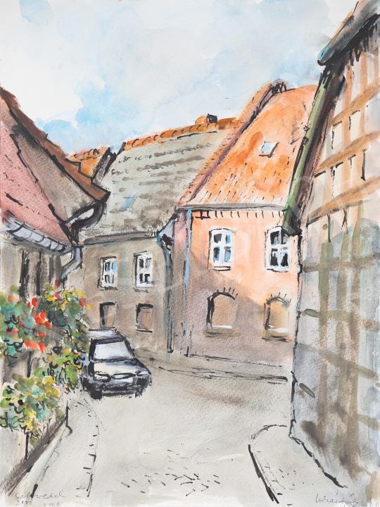 Eladó Lukács Ágnes - Salzwedeli utca III., 2000 festménye