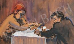 Lukács, Ágnes - Beer Tasting Men, 1982