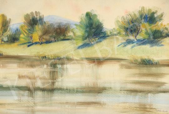 Eladó Lukács Ágnes - Kéklik a Kevély, 1980 festménye