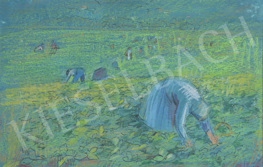 Eladó Lukács Ágnes - Eperszedők, 1978 festménye