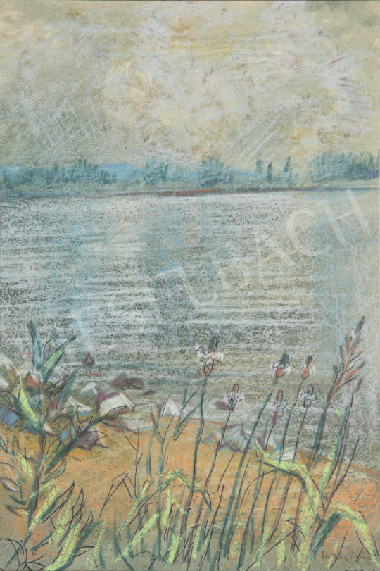 For sale Lukács, Ágnes - Flowers at the Nightly Danube Bank, 1979 's painting