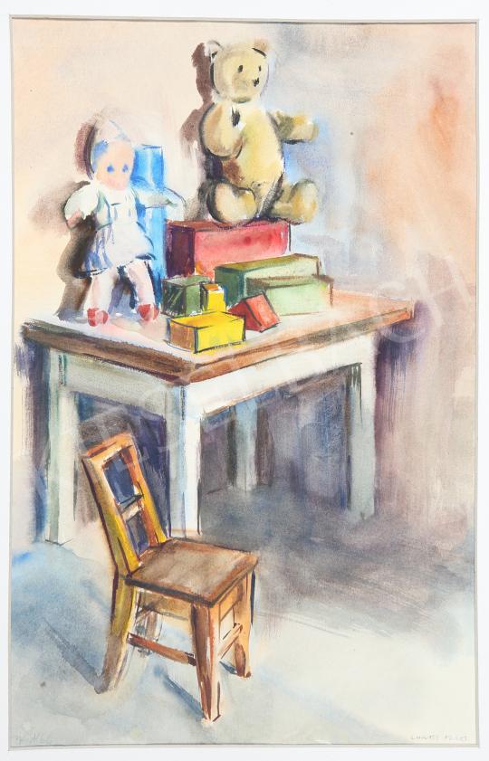 Lukács, Ágnes - Toys, 1960 painting