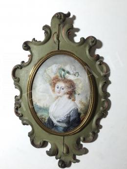 Ismeretlen festő olvashatatlan jelzéssel, 19. század - Vöröshajú szépség