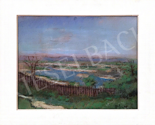 For sale  Bálint, Rezső - Landscape with a Fence 's painting