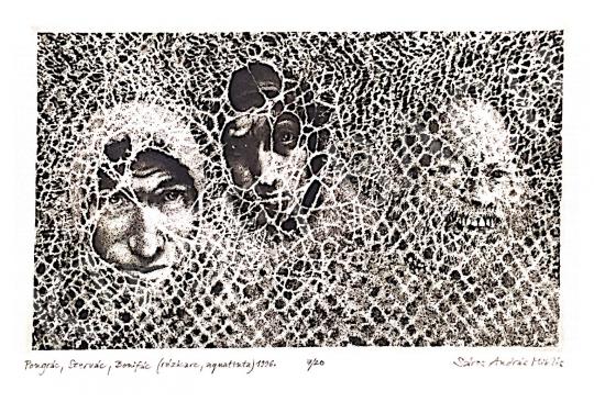 Eladó Sáros András Miklós - Pongrác, Szervác, Bonifác, 1998 festménye