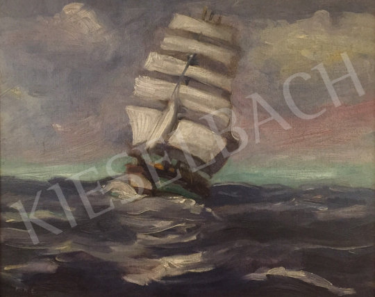 Eladó Kézdi-Kovács Elemér - Vitorlás hajó, 1926 festménye