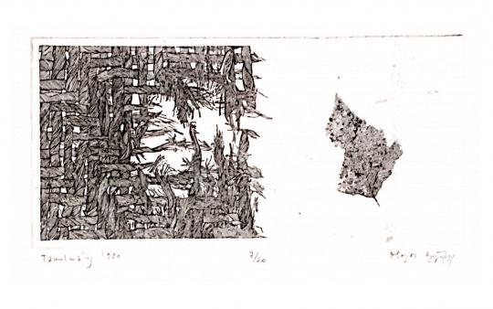 For sale Olajos, György - Study, 1980 's painting