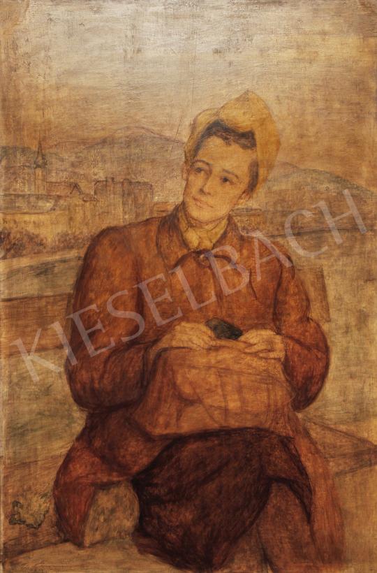 Eladó  Lám Ilona - Önarckép festménye