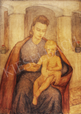 Lám, Ilona (Lám Ilus, Sz. Lám Ilona) - Mother with Child, 1941
