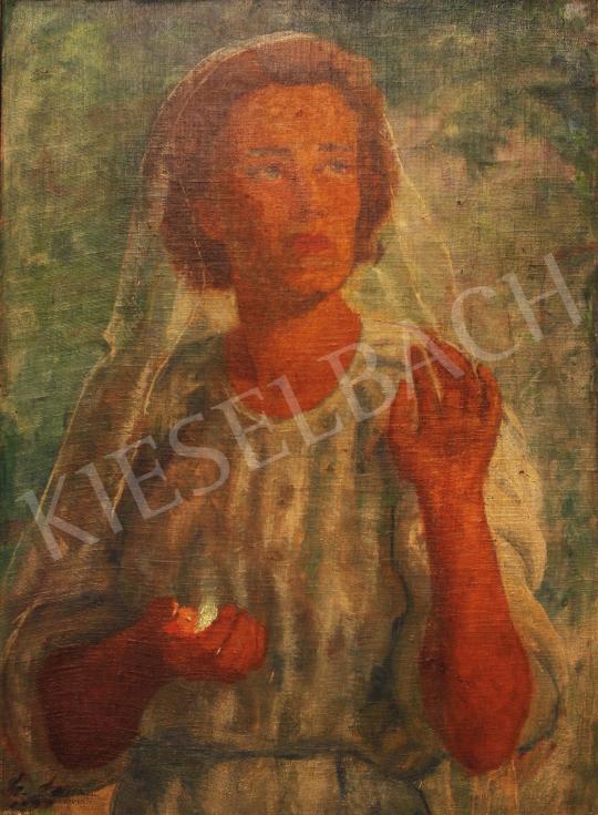 Eladó  Lám Ilona - Szent Borbála festménye