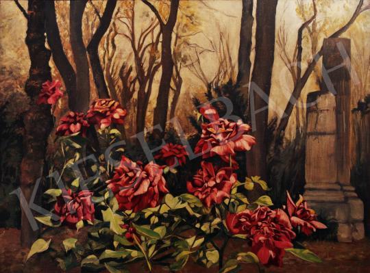 Eladó  Szinte János - Rózsabokor festménye
