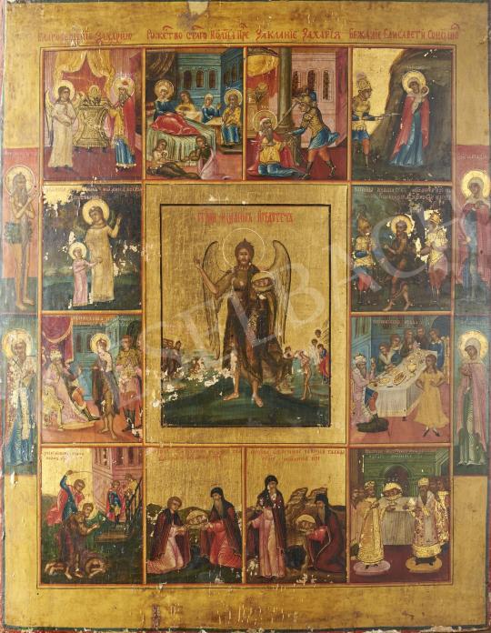 Eladó  Ismeretlen ikonfestő, 19. század - Szent János, 19. század festménye