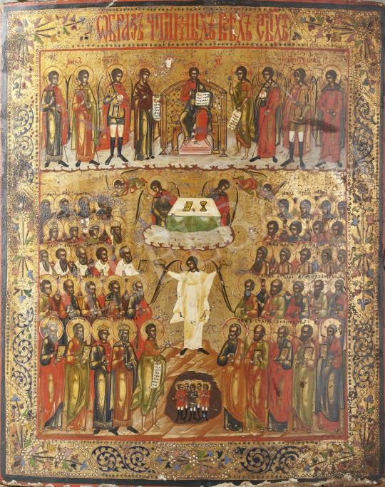 Eladó  Orosz ikonfestő, 19. század első fele - Jézus, orosz ikon, 19. század első fele festménye