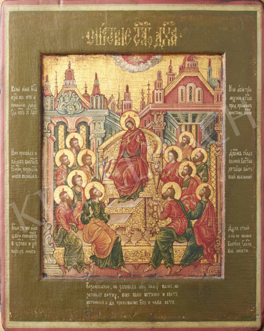Eladó  Orosz ikonfestő, 19. század - Madonna, orosz ikon, 1800 körül festménye