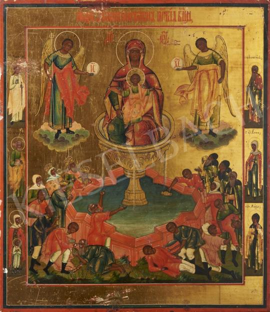 Eladó  Orosz ikonfestő, 19. század második harmada - Forrás, orosz ikon, 19. század második harmada  festménye