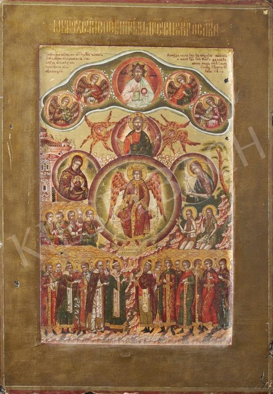 Eladó  Orosz ikonfestő, 19. század - Orosz ikon, 19. század festménye