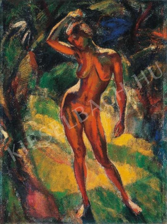 Márffy Ödön - Álló akt, 1910-es évek festménye