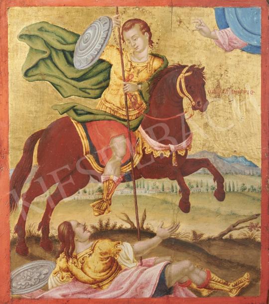 Eladó  Görög ikonfestő, 19. század - Görög ikon, 19. század festménye