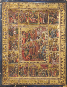 Russian Ikonpainter, 19th Century - Christ's Life, Russian Ikon, 19th Century