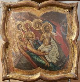 Orosz ikonfestő, 19. század - Feltámadás, orosz ikon, 19.század