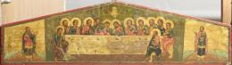 Orosz ikonfestő, 19. század - Utolsó vacsora, orosz ikon, 19. század
