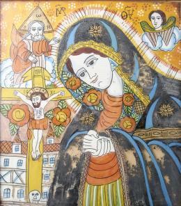 Erdélyi ikonfestő, 19. század - Fogarasi üveg ikon, 19. század