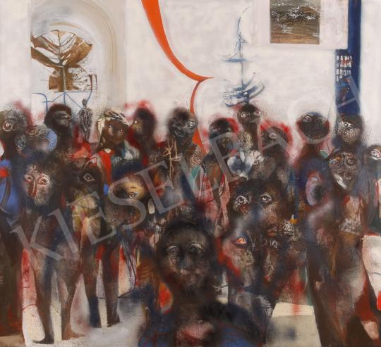 Eladó Scholz Erik - Vernissage - Közönség festménye