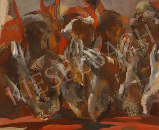 Eladó Scholz Erik - Vitázók, 1976 festménye