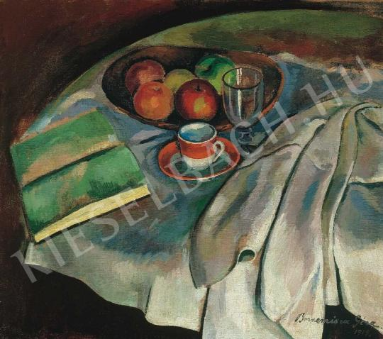 Bornemisza, Géza - Still-Life with White Tablecloth, 1919. painting