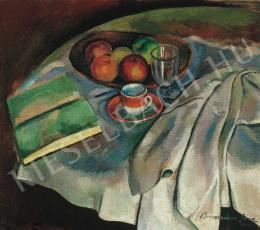 Bornemisza Géza - Csendélet fehér abrosszal, 1919