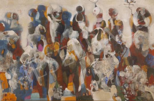 Eladó Scholz Erik - Színes tömeg, 1983 festménye