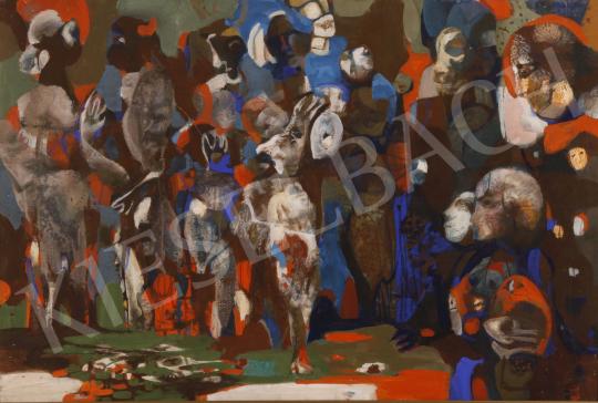 Eladó Scholz Erik - Mikor jönnek?, 1982 festménye