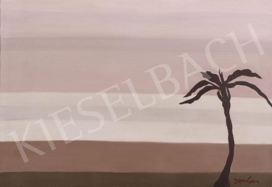Eladó  Dombay Lelly - Magányos pálmafa festménye