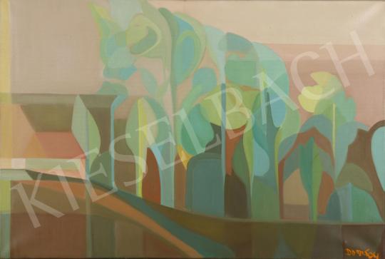 Eladó  Dombay Lelly - Reggel a falu szélén festménye